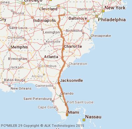 Brilliant Ohio Map.Cost To Transport A Can Am Maverick From Brilliant Ohio To Miami