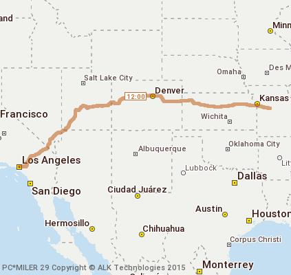 Sedalia Missouri Map.Cost To Ship A Sedalia Mo Monterey Park Ca To Monterey Park